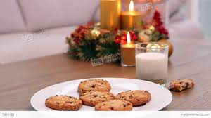 coffee table with christmas gift bag and cookies stock video