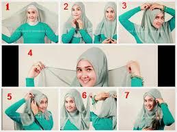 tutorial hijab segitiga paris simple cara mudah memakai jilbab segi empat cantik