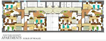 University Floor Plans Boulevard Apartments Point Park University