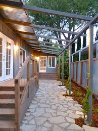 Patio Metal Roof by Backyard Patio Ideas Flagstone Patio Eclectic With Corrugated