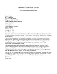 best ideas of sample cover letter for business administration