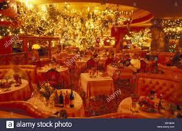 Christmas Dining Room Decorations California Madonna Inn San Luis Obispo Usa America United States