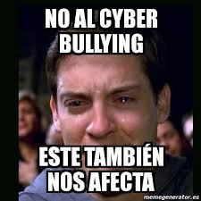 Memes De Bullying - meme crying peter parker no al cyber bullying este tambi繪n nos