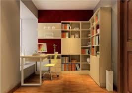 study room decor desk and corner bookcase 3d house