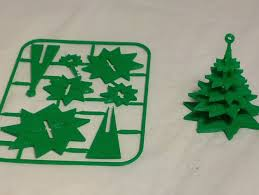 evergreen tree ornament on card by w3ace thingiverse