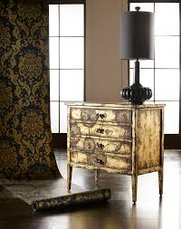 gold and white stenciled table themed makeover metallic gold