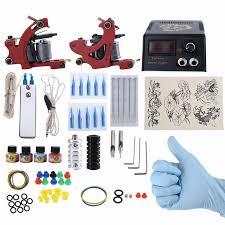 professional eu plug complete tattoo kit diy 2 tattoo machines 4