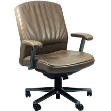 Tan Leather Office Chair Steelcase Vecta 4 O U0027clock Series Executive Leather Office Chair