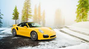 porsche yellow porsche snow car yellow cars wallpapers hd desktop and mobile