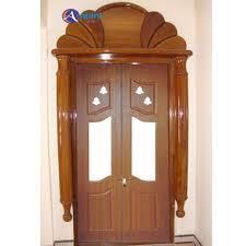 Teak Wood Pooja Room Door Designs