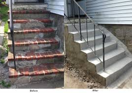 residential concrete steps repair brick stone stair repairs ma