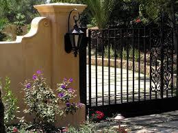 wrought iron gates landscape mediterranean with santa barbara