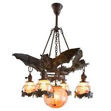Bat Light Fixture Austrian Bronze Bat Chandelier With Glass Orbs Bats Chandeliers