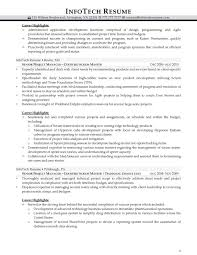 Sharepoint Project Manager Resume It Resume Samples Infotechresume