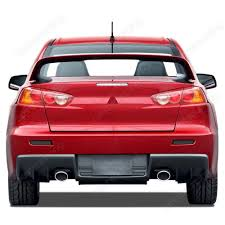 mitsubishi evo red and black bumper led lights black smokers lancer evolution x cz4a rear