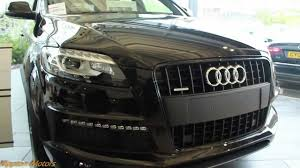 Audi Q7 Night Black - 2013 audi q7 s line youtube