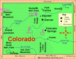 map of colorado by population colorado facts map and state symbols enchantedlearning