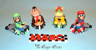 mario cake toppers mario cake topper kart toppers wedding bros edible