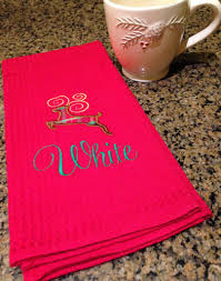 Waffle Weave Kitchen Towels Kitchen Towels Kitchen Towels With Sayings Embroidered Towels