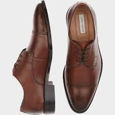 brown cap toe lace ups men u0027s dress shoes joseph abboud calvin