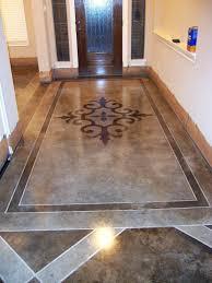hallway with acid wash concrete floors craftsman style homes
