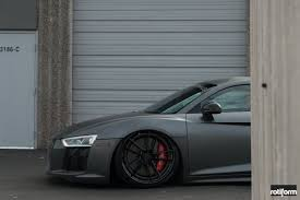 audi r8 matte black mighty matte black audi r8 with custom body kit and air suspension