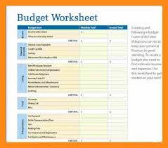Budgeting Worksheets For Students 9 Printable Budget Worksheet Actor Resumed
