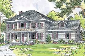 Historic Colonial House Plans Colonial Style House Plan 4 Beds 2 50 Baths 2305 Sq Ft Plan 124 443
