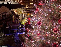 How To Decorate A Large Christmas Tree - behind the scenes as covent garden is decked out in giant