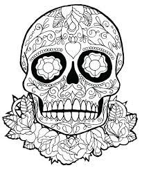 printable coloring pages sugar skulls printable sugar skull coloring pages bcprights org