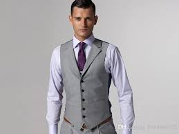light gray vested suit sale light grey formal men s waistcoat new arrival fashion groom