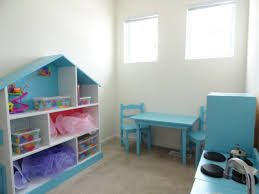 beautiful dollhouse bookshelves kids in blue and white colors with