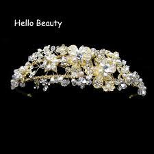 pearl hair accessories gold wedding hair accessories jewelry handmade pearl hair