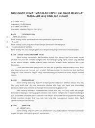format penulisan makalah sederhana contoh penulisan paper