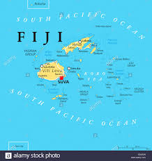 map of suva city fiji political map with capital suva islands important cities