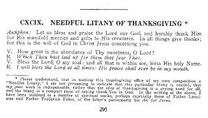 needful litany of thanksgiving commentaries notes considerations