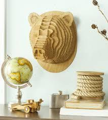 stewart wood bear head home decor u0026 lighting cardboard safari