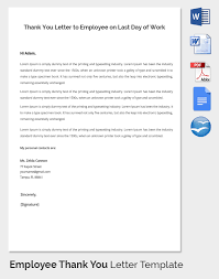 employee thank you letter template 20 free word pdf documents
