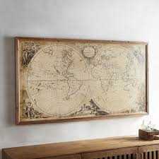 Personalised World Map Pinboard by Wall Art Amazing Framed World Maps World Maps For Wall Hanging