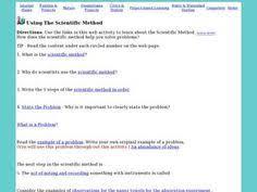 controls and variables worksheet scientific method pinterest