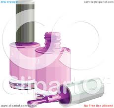 royalty free rf clipart illustration of a brush resting by two