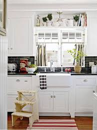 cottage kitchen design ideas apron front sink cafe curtains and