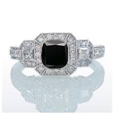 princess cut black engagement rings 2 carat princess cut trilogy black and vintage