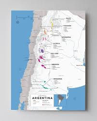 Geographical Map Of South America South America Wine Regions Map Wine Folly