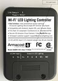 fcc compliant led lights alwifi14r wifi led controller id label location info