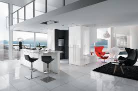 cuisine sol blanc carrelage cuisine blanc et noir decoration salle de bain