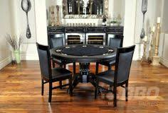 round poker table with dining top rockwell high end poker table with dining top 6 lounge chairs