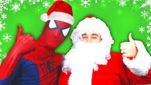 spiderman vs batman with santa claus in real life superhero movie
