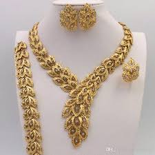 gold necklace with earrings images 2018 2016 gold jewelry fashion style high quality african women jpg