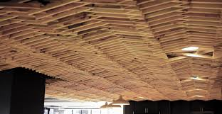 hand made white pine slat ceiling by rudabega custommade com
